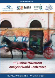 1 st Clinical Movement Analysis World Conference