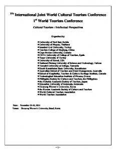 1 st World Tourism Conference