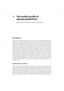 1 The health profile of ageing populations