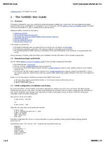 1 - The NetBSD Xen Guide