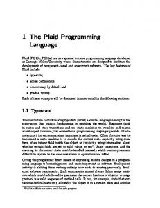 1 The Plaid Programming Language
