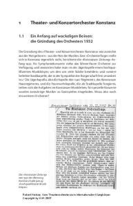 1 Theater- und Konzertorchester Konstanz
