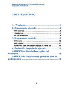 1. Trasfondo Concepto del ejercicio Bosquejo del ejercicio... 10