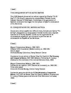 1 [wall] THE CONQUEROR OF THE AZTEC EMPIRE