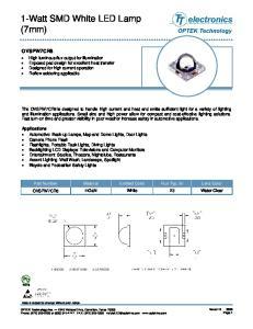 1-Watt SMD White LED Lamp (7mm)