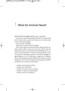 1 What Do Animals Need?