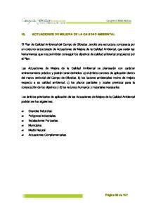 10. ACTUACIONES DE MEJORA DE LA CALIDAD AMBIENTAL