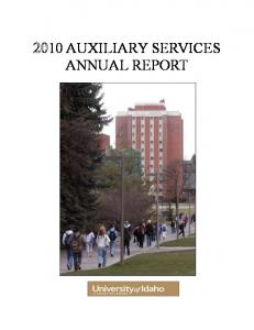 10 AUXILIARY SERVICES ANNUAL REPORT