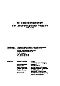 10. Beteiligungsbericht der Landeshauptstadt Potsdam per