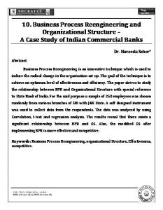 10. Business Process Reengineering and Organizational Structure A Case Study of Indian Commercial Banks