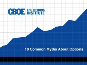 10 Common Myths About Options