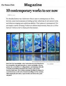 10 contemporary works to see now