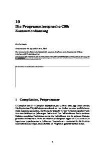 10 Die Programmiersprache C99: Zusammenfassung