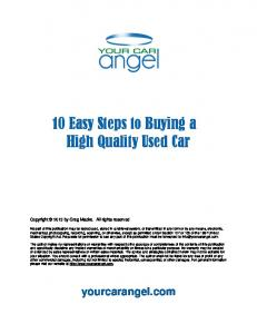 10 Easy Steps to Buying a High Quality Used Car
