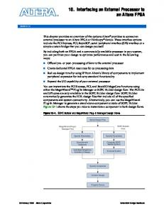 10. Interfacing an External Processor to an Altera FPGA