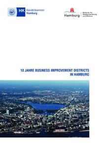 10 JAHRE BUSINESS IMPROVEMENT DISTRICTS IN HAMBURG