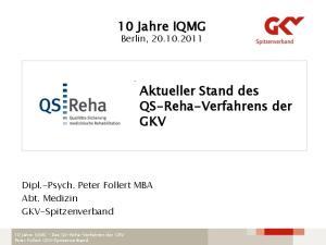 10 Jahre IQMG Berlin,