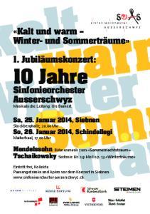10 Jahre Sinfonieorchester Ausserschwyz