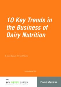 10 Key Trends in the Business of Dairy Nutrition