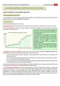 10. LOS ESPACIOS INDUSTRIALES. LA IMPORTANCIA DEL SECTOR SECUNDARIO