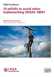 10 pitfalls to avoid when implementing OHSAS 18001