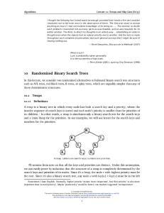 10 Randomized Binary Search Trees