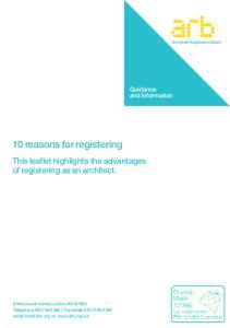 10 reasons for registering