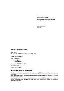 10 Series CNC Programming Manual