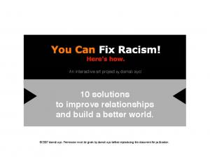 10 solutions to improve relationships and build a better world