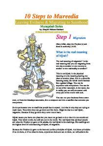 10 Steps to Mureedia