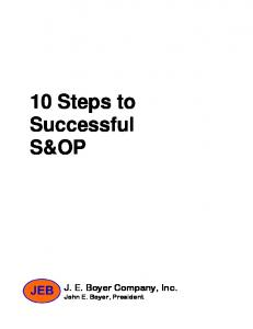 10 Steps to Successful S&OP