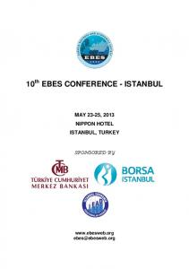 10 th EBES CONFERENCE - ISTANBUL