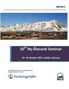 10 th Ny-Ålesund Seminar