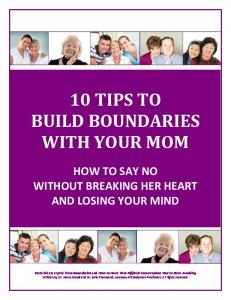 10 TIPS TO BUILD BOUNDARIES WITH YOUR MOM