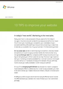 10 TIPS to improve your website