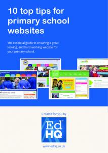 10 top tips for primary school websites