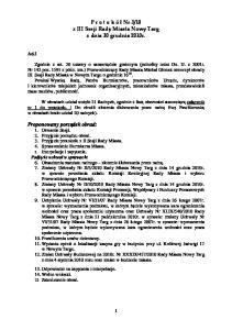 10 z III Sesji Rady Miasta Nowy Targ z dnia 30 grudnia 2010r