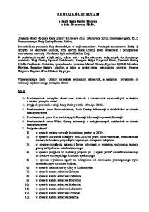 10. z Sesji Rady Gminy Bierawa z dnia 29 czerwca 2010r