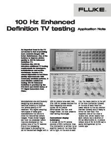 100 Hz Enhanced Definition TV testing