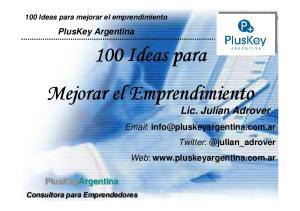 100 Ideas para Mejorar el Emprendimiento