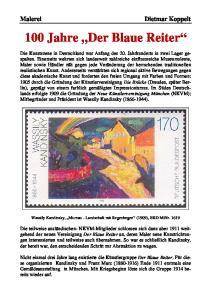 100 Jahre Der Blaue Reiter