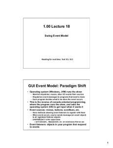 1.00 Lecture 18. GUI Event Model: Paradigm Shift