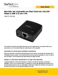 100 Mbps a USB 2.0 con LPR