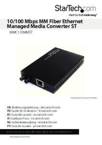 100 Mbps MM Fiber Ethernet Managed Media Converter ST