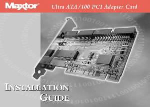 100 PCI Adapter Card INSTALLATION GUIDE