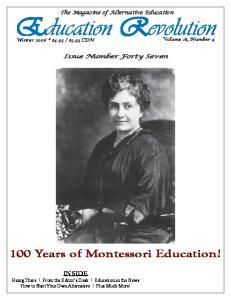 100 Years of Montessori Education!