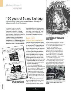 100 years of Strand Lighting
