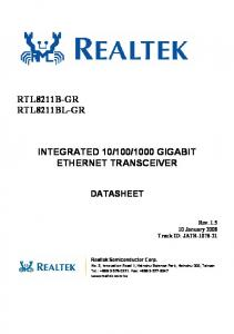 1000 GIGABIT ETHERNET TRANSCEIVER