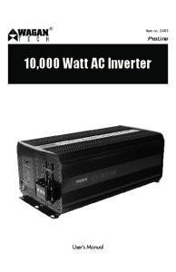 10,000 Watt AC Inverter