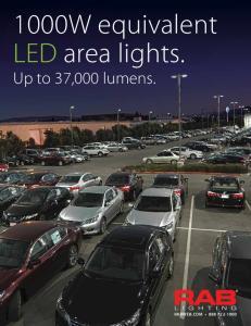1000W equivalent LED area lights
